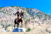 Osoyoos, First Nations, statue native Indian, Nk' Mip Desert Cultural Centre