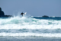 Airborne, surfing, Chesterman Beach, Tofino