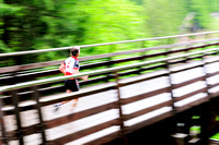 Subaru Triathlon, Shawnigan Lake, Kinsol Trestle, runner