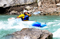 White water kayaking, Kananaskis River, Canoe Meadows, course, rapids, Alberta