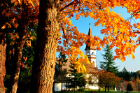 First Nations, Duncan, St. Ann's Church, First Nations church, fall colours