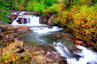 Mark Creek, Marysville Falls, Marysville, BC., fall colours,