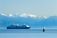 Holland America Line cruise ship, Westerdam, Victoria, Olympic Mountains