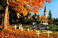 St. Ann's Church, Native, Duncan, fall colours, heritage