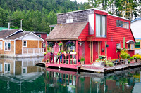 Houseboat, float home, Maple Bay, BC, marina