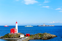 Fort Rodd Hill, Fisgard Lighthouse, USS Ronald Reagan, HMCS Sir Wilfrid Laurier, HMCS Vancouver