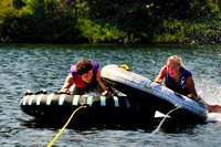 Tubing, Shawnigan Lake, BC., teens