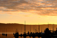 marina, Cowichan Bay, sunrise, early morning